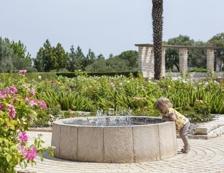 ילד מסוקרן בגן